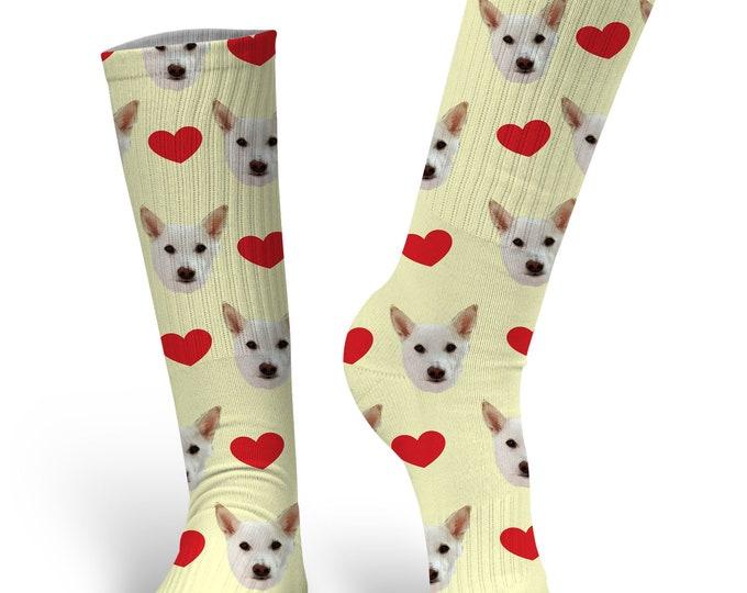 Dog Face Socks - Face Socks - Custom Dog Socks - Novelty Socks - Custom Printed Socks - Stocking Stuffer - Cat Socks - Photo Socks