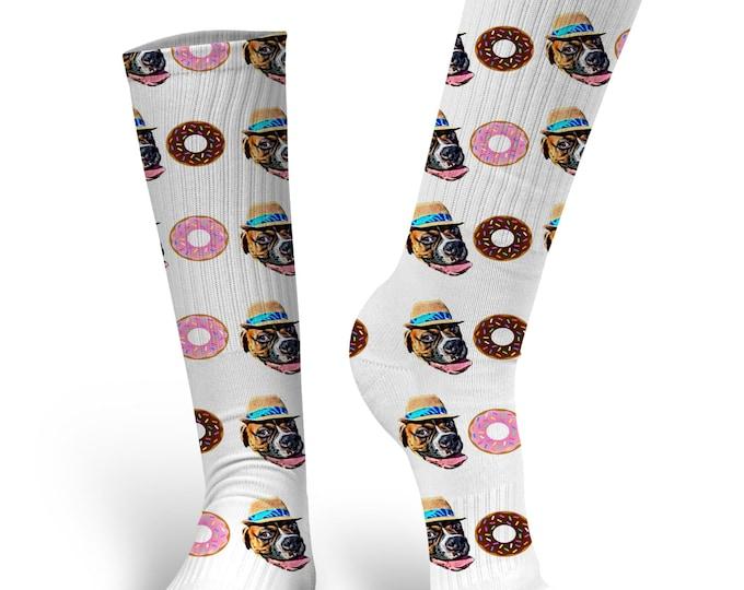 Custom Dog Socks - Put Your Dog on a Sock, PupSocks, Donut Socks