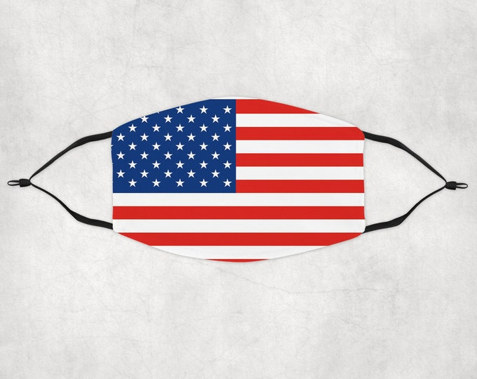 American Flag Mask, Flag Face Mask, United State of America Face Mask, Stars and Stripes Mask