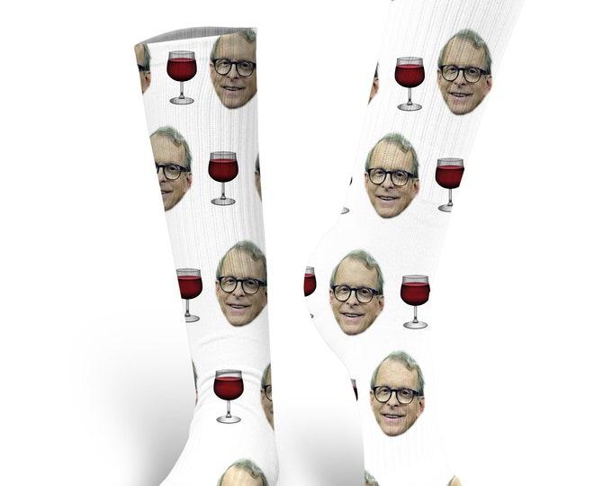 Custom Face Socks, Governor Mike Dewine  Socks, Dewine Socks, Mike Dewine Face Socks, Governor Mike Dewine, Ohio  Governor