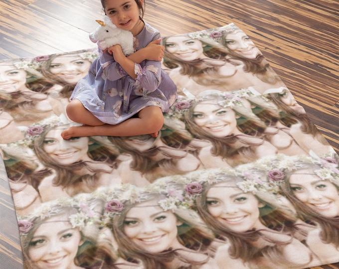 Custom Face Blanket, Custom Photo Blankets, Photo Blankets, Fleece Blankets
