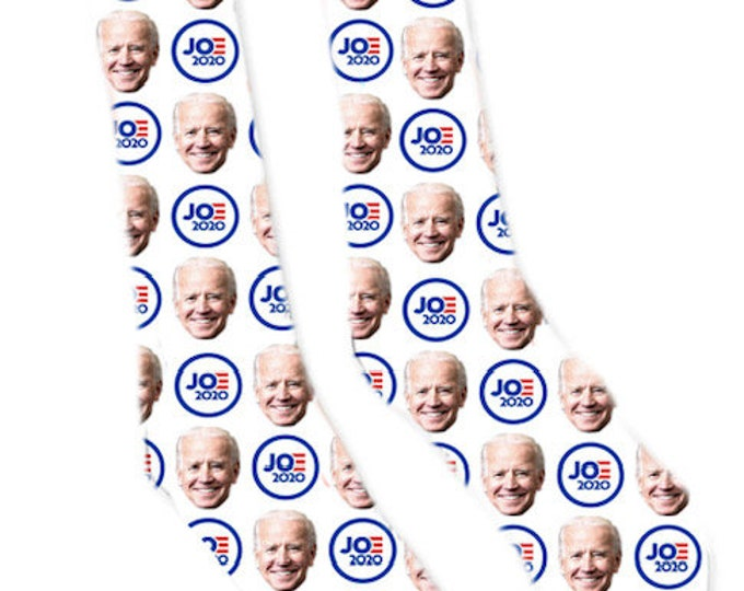 Custom Face Socks- Presidential Gifts - Joe Biden 2020 - President Socks - Novelty Socks- Custom Printed Socks - Fashion Socks