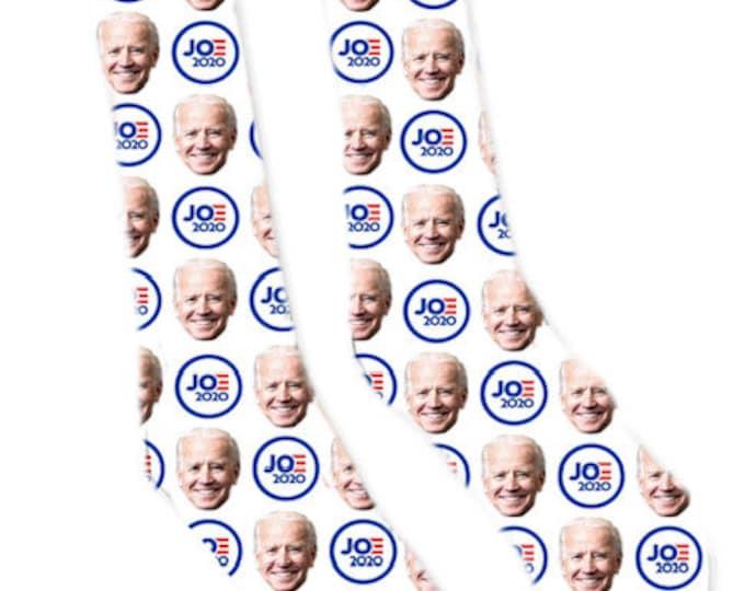 Custom Face Socks, Joe Biden Socks, Joe Biden,  Joe Biden Face Socks, 2020 Presidential Socks, Presidential Socks, Joe