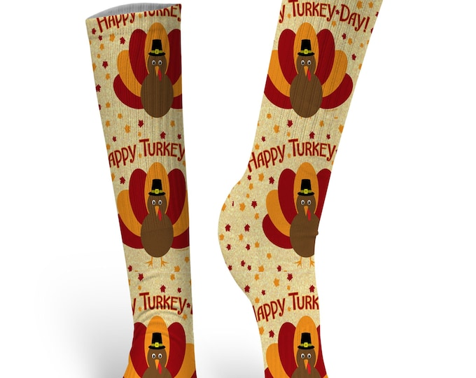 Thanksgiving Socks, Turkey Socks, Custom Lemon Socks, Emoji Socks, Wedding Socks, Novelty Socks, Holiday Socks