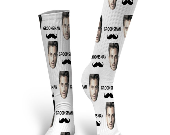 Custom Face Socks- Groomsman Socks - Wedding Socks - Custom Wedding Socks - Best Man - I do Socks - Groomsman