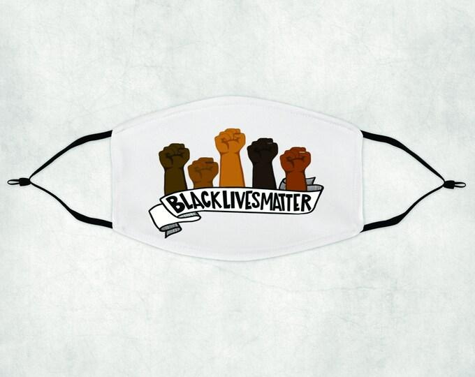 Black Lives Matter Face Mask, Face Mask with Filter, Face Mask, Black Lives Matter, BLM Face Mask, BLM Mask