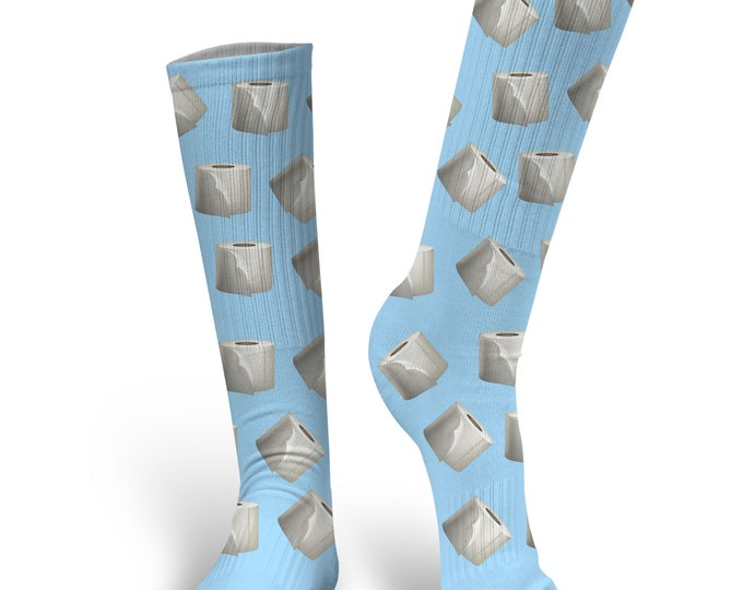 Toilet Paper Socks, Custom Toilet Paper Socks, Custom Photo Socks, Custom Socks, Personalized Socks, Custom Socks
