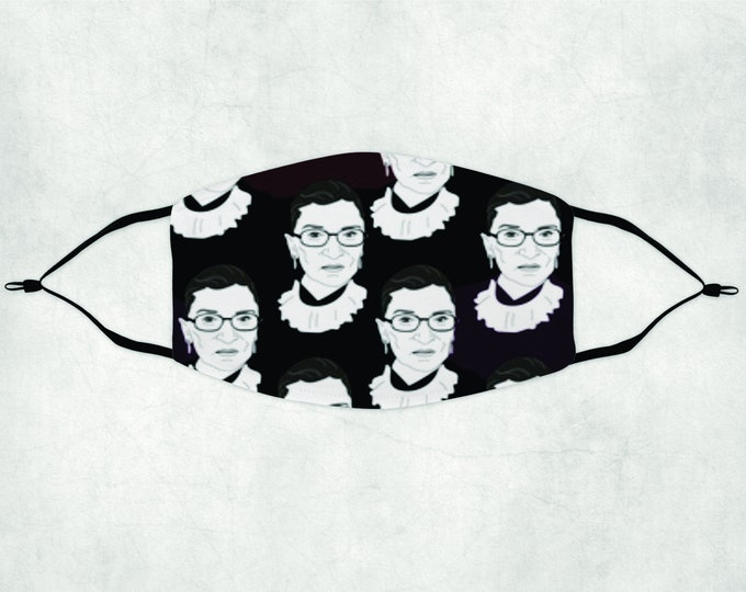 RBG Mask, Custom Face Mask, Custom RBG Mask, Ruth Bader Ginsburg Face Mask