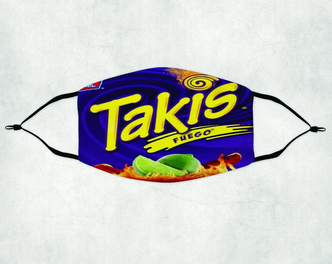 Takis Face Mask, Face Mask with Filters, Face Mask Filter, Takis Mask, Takis