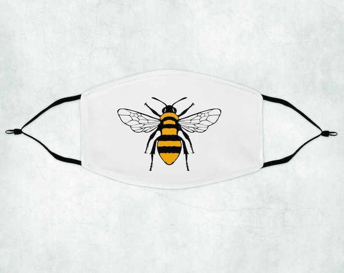 Bee Face Mask, Face Mask with Filter, Face Mask, Bee Mask. Bumble Bee Face Mask