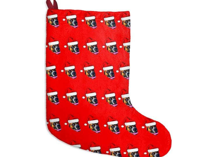Custom Photo Stocking, Face Stocking, Christmas Stocking, Put your face on a Stocking, Personalized stocking, Stocking with Christmas Hat