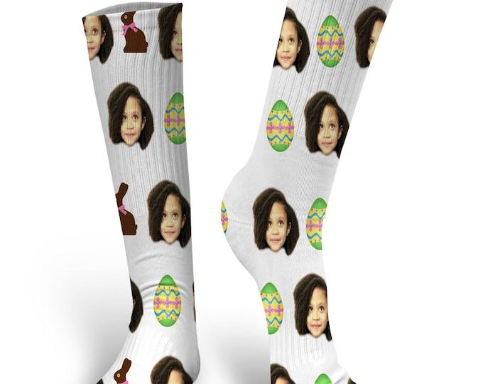 Easter Socks, Custom Face Socks, Custom Photo Socks, Custom Socks, Personalized Socks, Custom Socks, Picture Socks, Easter Egg Socks