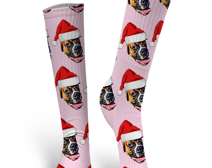Christmas Socks, Custom Face Socks, Custom Photo Socks, Custom Socks, Personalized Christmas Socks, Custom Printed Socks, Picture Socks
