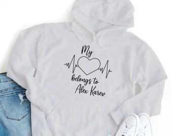 Greys Anatomy Hoodie, My Heart Belongs to... Alex Karev McDreamy Mark Sloan Derek Shepherd