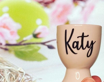 Personalised Egg Cup, Easter Gift, Porcelain Egg Cup, Fast Despatch