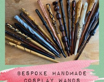 Handmade Custom Wooden Wand - made to order - Personalised - Bespoke - Wand - Wizard - Magic - Cosplay -