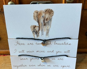 Double Wish Bracelet, Be together when you're apart, separation comfort for children