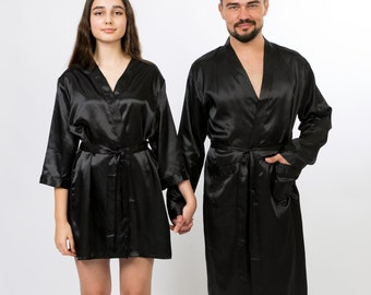Bride /& Groom His /& Hers Luxury Bath Robe Dressing Gown Wedding Valentines Gift