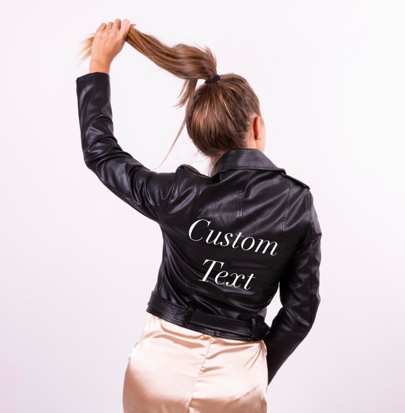 Bridesmaid Leather jacket Bridal party leather jacket Custom Leather Jacket Wedding jacket-glit Custom jacket Mrs Custom Leather Jacket