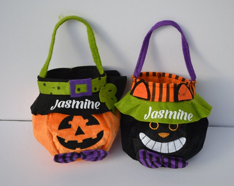 Trick-or-treat bag Personalized Trick or Treat Basket candy image 0