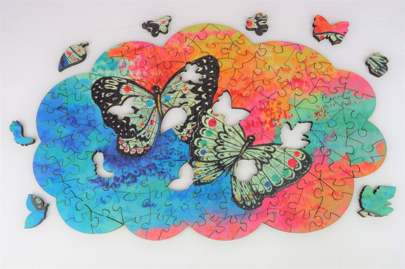 Wooden puzzle shaped cloud for adult Butterfly Fairy Walk image 0