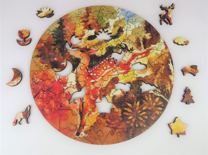 Adult Wooden Puzzle Deer Friend of the Forest image 0