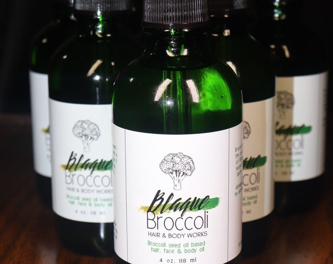 Featured listing image: 4 oz Blaque Broccoli Scalp, Hair and Body Oil