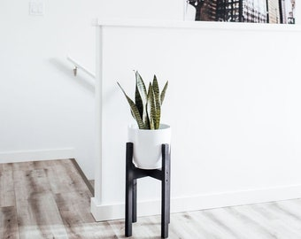 Wood plant stand. Modern plant stand. Mid-century plant stand. Plant holder. Wood plant stand. Custom sized plant stands. CANADIAN made.