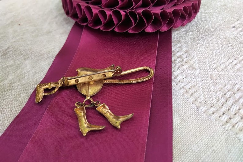 Brooch Equestrian Vintage Equestrian Stock Pin Horses Equestrian Jewellery