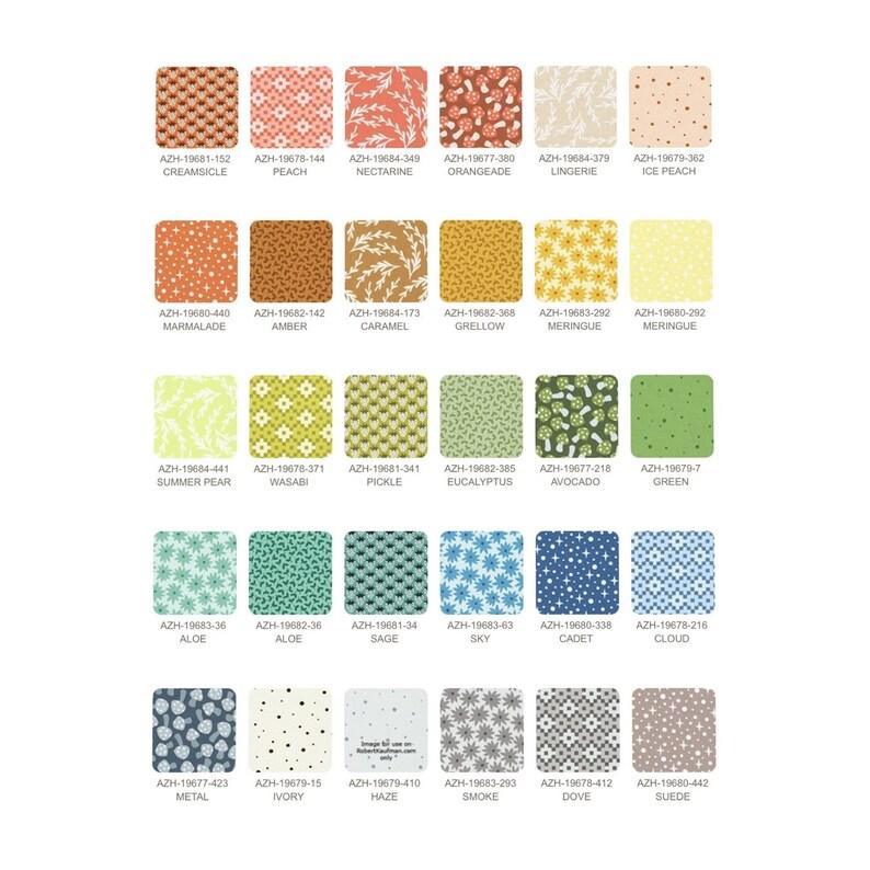 Elizabeth Hartman Robert Kaufman Quilters Cotton Paintbox 42 Fabrics 5 Charm Square Bundle