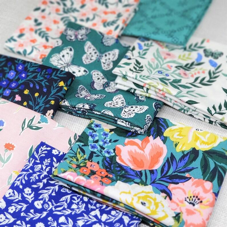 Perennial Fat Quarter Bundle 8 Fabrics Organic Quilting Cotton Casssidy Demkov Cloud 9 Fabrics