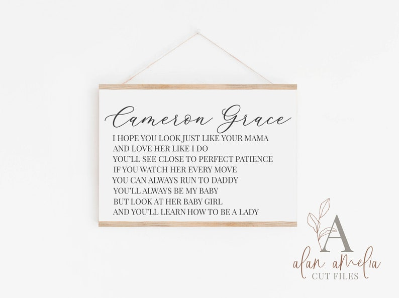 Brett Young Lyrics Svg Custom Printable Personalized Baby Gift Svg Personalized Girl Name Svg Personalized Nursery SVG Lady SVG