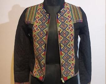 festival handicraft garment womens jackets rave Banjara jacket vintage coat women/'s wear clothing. boho clothing beaded women/'s gilet