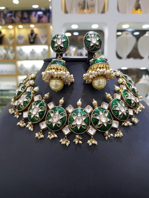 polki jewellery Sabyasachi jewelry,Indian jewelry polki choker set polki Jewelry, Polki set