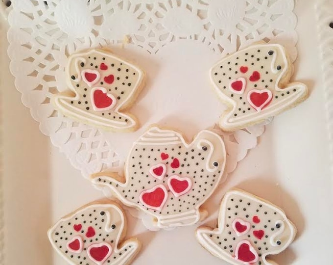 Featured listing image: TEA Party COOKIES gift.... 5 cookies /mother's day /tea party/sweet gift /table decor/ /ORGANIC