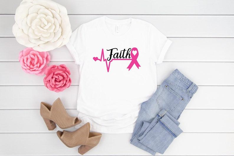 Faith Breast Cancer Ribbon Shirt Masswerks Store