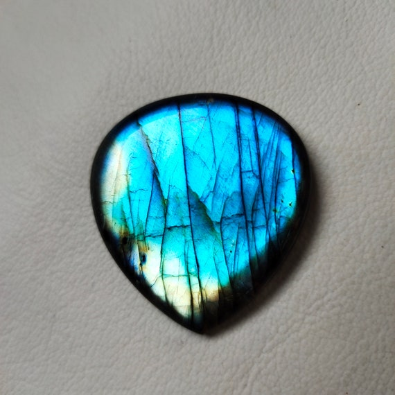 Wire Wrap Jewelry 101.10 Cts Heart Shape Best For Silver Blue Labradorite Loose Gemstone AAA+ Quality Multi Blue Labradorite Cabochon