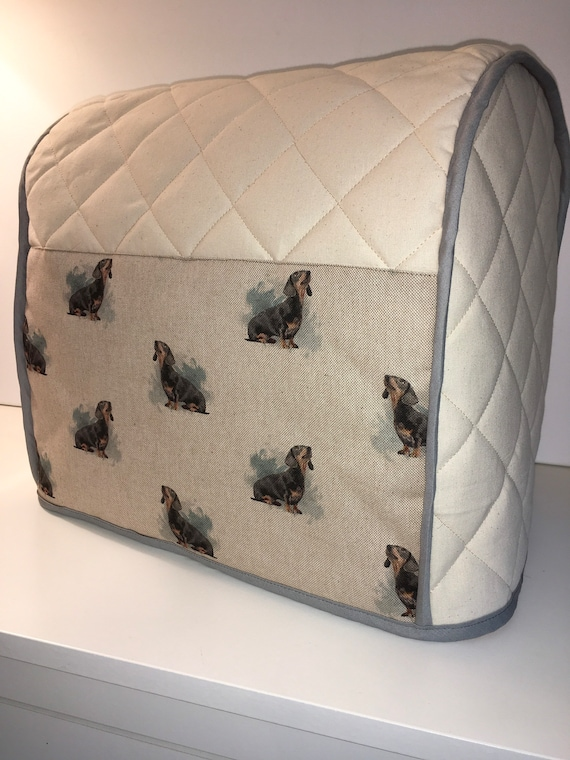 Cute Daxi Dachshund Dog Quilted Cotton Calico Kitchenaid Etsy