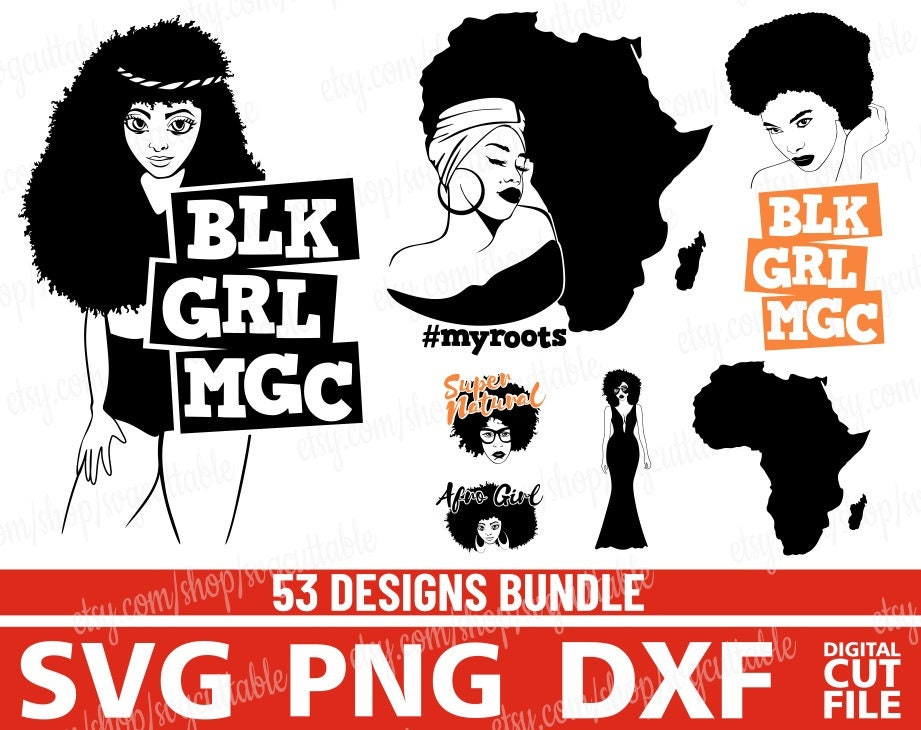 With black svg girl afro Misskyliedesign Free
