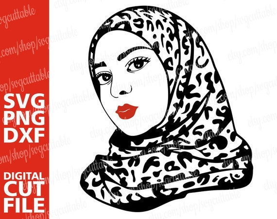 Muslim woman svg Arabic svg Jilbab Cricut file Black girl magic Silhouette,Instant download Muslimah wear Nubian Islam Hijab svg