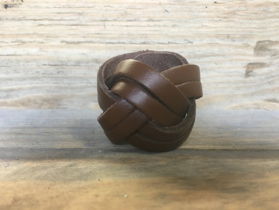 Plaited Leather Plaited Woggle with press stud Leather Scout Woggle
