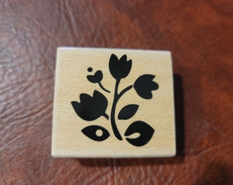 Folk Flowers Set 3 Clear Stamps Studio G For Use with Acrylic Block NEW in Package
