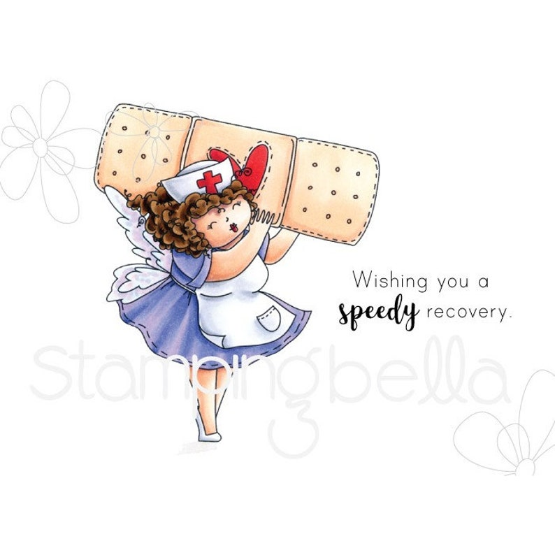 Stamping Bella Edna to the Rescue Rubber Stamp