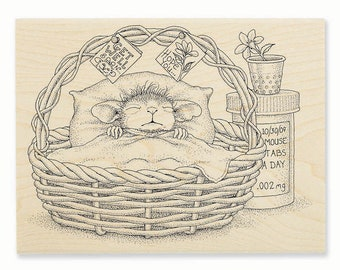 House Mouse Quick Recovery Rubber Stamp