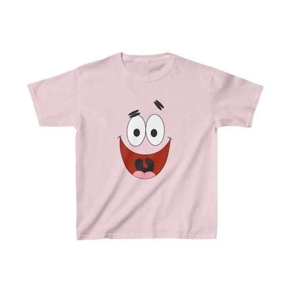 Spongebob Patrick Star Face Youth Kids T-Shirt