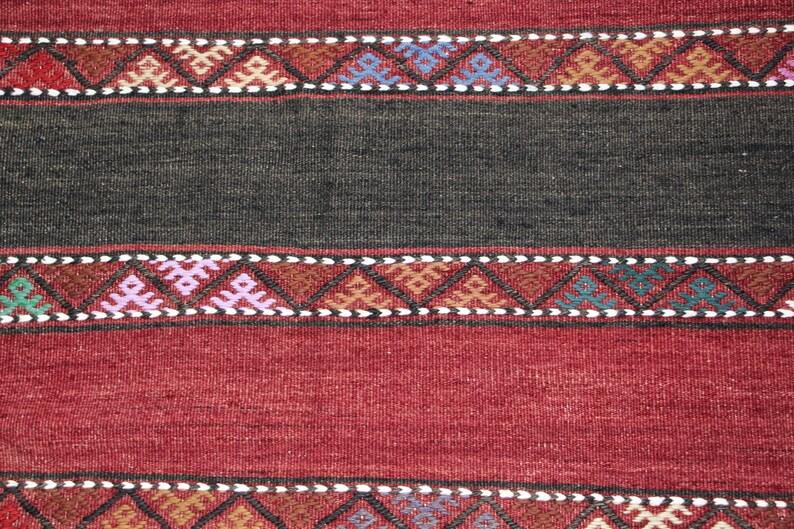 hallway rug Turkish runner Turkish rug handmade runner vintage runner colorful runner wool runner streaked runner 2.6 x 8.7 ft