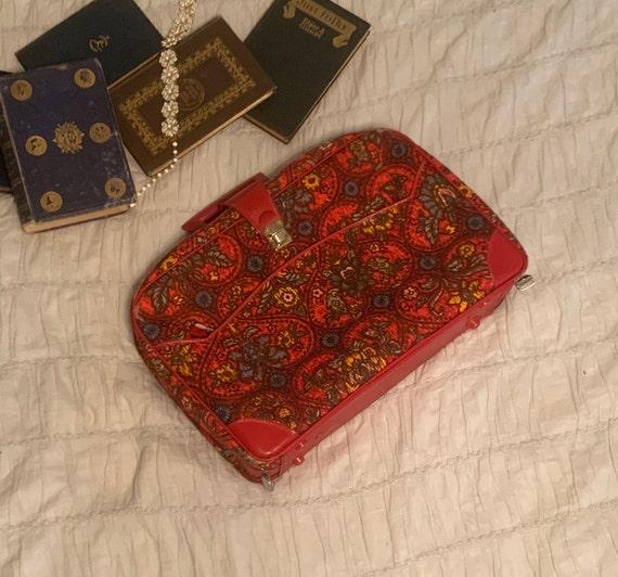 Vintage Luggage Gimbel's // 1960s/1970s // Floral