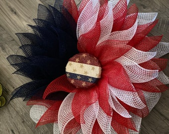 Patriotic, Independence Day Wreath