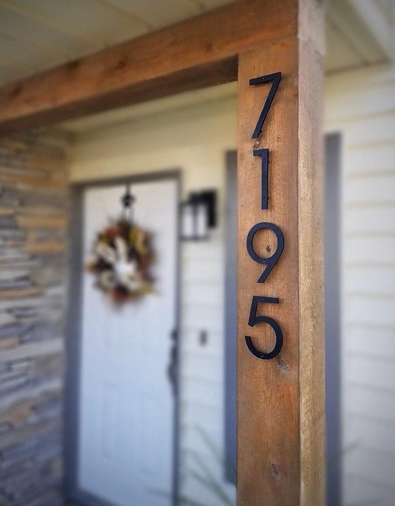 6'' Modern House numbers Address number Door number Black