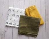 Muslin lovey, Doll blanket , Minikane doll blanket, Muslin blanket, baby lovey, Pom trim blanket